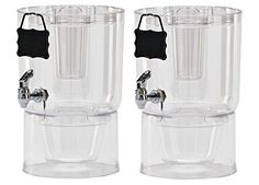 Buddeez Cold Beverage Dispensers (Set of 2), 1.75 gallon, Clear ** Learn more by visiting the image link.-It is an affiliate link to Amazon.