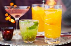 Delicious Italian limoncello gets a Christmas makeover, combined with vodka & clementine juice. Find this fun cocktail recipe, & more, at Tesco Real Food.