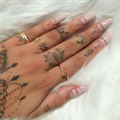 Image result for girl finger tattoos