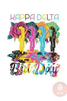 Geneologie   Kappa Delta   Bid Day   Roses   Paint Drips Kappa Delta, Drip Painting, Bid Day, Roses, Chair, Artwork, Work Of Art, Pink, Auguste Rodin Artwork