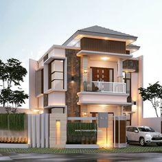 3 Storey House Design, Bungalow House Design, House Front Design, Best Modern House Design, House Design Photos, Building Design, Building A House, 20x40 House Plans, Minimalist Layout