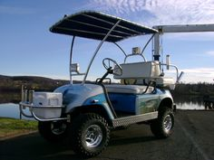 This is sick! Fishing golf cart, gotta get me one of these.