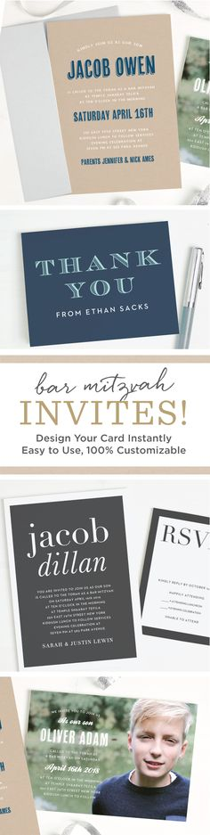 27 best diy bar mitzvah images on pinterest great ideas instantly design personal and quality bar mitzvah invitations online with real time previews of every solutioingenieria Gallery
