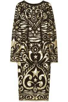 ShopStyle: Emilio Pucci Silk-blend georgette and lamé brocade dress Emilio Pucci, Brocade Dresses, Fashion Prints, Fashion Design, Style Fashion, Textiles, Well Dressed, Chic, Dress To Impress