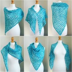 What better way to reveal my finished 'Spirit of Summer' shawl, than to show you just how versatile it is (simple + versatile = my favourit...