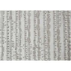Perkamentpapier met Muzieknoten, A4 21x30 cm, 115 gr, 10 vellen