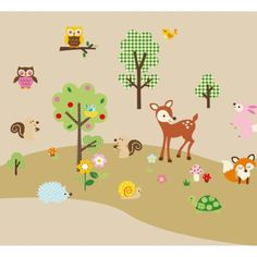 Woodland - Bunte WANDSTICKER Waldtiere - Wald - Bäume - Kinderzimmer Deko - aus USA Woodland http://www.amazon.de/dp/B004JCOV6O/ref=cm_sw_r_pi_dp_MNdUub0SBB75Y