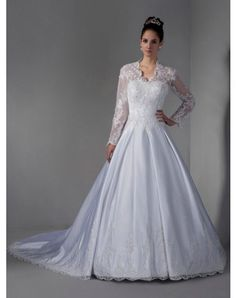 Brilliant Sweetheart Embroidery Satin Wedding Dresses