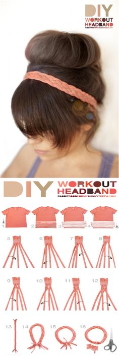 DIY Workout Headband.  Love it!