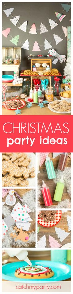 If your planning a Christmas cookie decorating party look no further than this fantasic party for great ideas! The decorations are wonderful!! See more party ideas and share yours at CatchMyParty.com