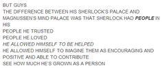 Sherlock's Mind Palace vs Magnussen's