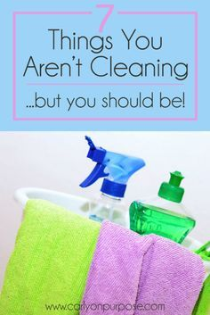 7 gross places in your home you might not be cleaning, but you should be! Cleaning TIps
