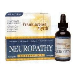 Frankincense  Myrrh All Natural Neuropathy Rubbing Oil