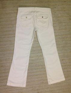 GAP 1969 SEXY BOOT CUT WHITE Sz 14 MIDRISE STRETCH JEANS ACTUAL 35X33 MINT E41 #GAP #BootCut