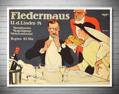 Check out this item in my Etsy shop https://www.etsy.com/listing/227307450/fledermaus-wein-restaurant-vintage