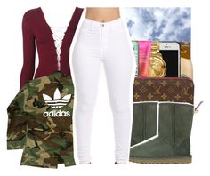 """""""The night is still young """" by pinksemia ❤ liked on Polyvore featuring UGG Australia, T By Alexander Wang and adidas"""