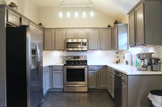 Great way to re-use cabinets -The Duffle Family: DIY Kitchen Makeover