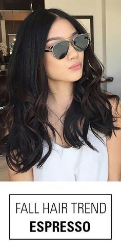 Need a fall hair color idea for brown hair? Try Warm Espresso! Pair a dark brown base and gradually melt into colors that are few shades lighter.