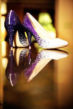 purple wedding shoes that are BADASS @Misty Schroeder Joslin