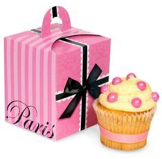 Paris Damask Cupcake Boxes, 89530 via Birthday Express