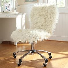 Ivory Furlicious Airgo Chair #pbteen