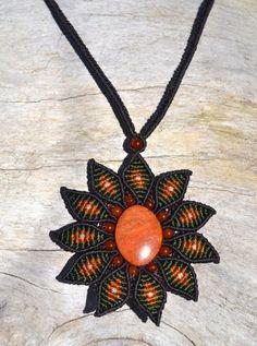 Rumi Sumaq Flower Macrame Necklace