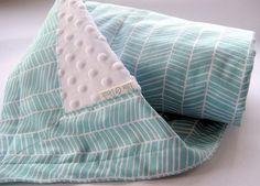 Gender+Neutral+Baby+Blanket++Modern+Herringbone+in+by+EllieandDash,+$42.00