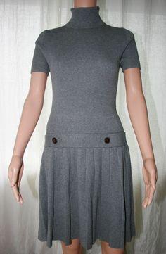 MODA Int'l - Gray Turtleneck Ribbed Sweater Dress - Size M or L -Also in Black L #MODAINTERNATIONALforVictoriasSecret
