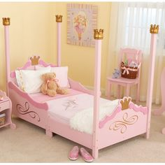 KidKraft Princess Toddler Bed & Reviews | Wayfair