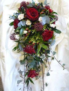 christmas wedding flowers, christmas wedding bouquets, and winter wedding bouquets Christmas Wedding Bouquets, Spring Wedding Bouquets, Red Bouquet Wedding, Winter Wedding Flowers, Bride Bouquets, Bridal Flowers, Floral Wedding, Flower Bouquets, Flowers Uk