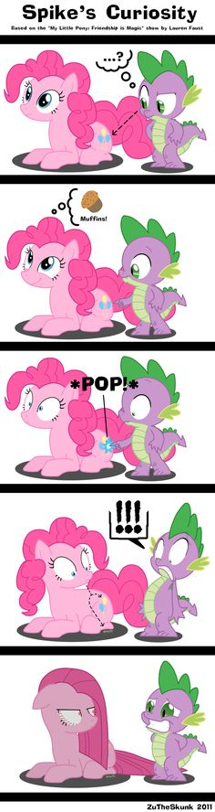MLP: Spike's Curiosity by ZuTheSkunk.deviantart.com on @deviantART