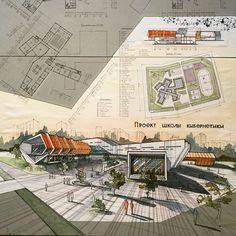 #architecture #arch_more #illustrateyourworld #archisketcher #arch_sketch #myrecent Один из последних проектов) by clarodeluna_asb