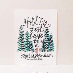 Mumford + Sons / Hopeless Wanderer / Lyrics / Cabin Woods Snow Painting