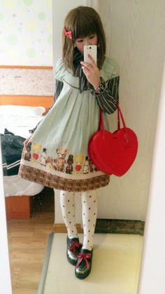 Some of it I don't consider exactly lolita, but still more casual lolita ideas...