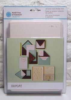 Martha Stewart Crafts Set Your Own Stamp Case Letters Phrases Rings 310 Pc New #MathaStewartCrafts #Background