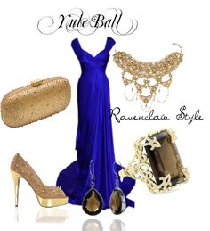 """""""Yule Ball - Ravenclaw"""" by eva-gabrielle-thompson on Polyvore"""