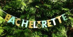 BACHELORETTE BANNER- mint and gold bachelorette party decorations.  Silver bachelorette banner option also available. by MagnoliaOlive on Etsy
