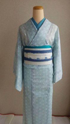 """夏着物・単衣 Kimono for summer """"KOMON"""""""
