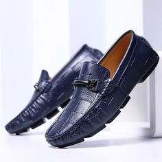 Swag Horsebit Loafers Male Urban Men Driving Shoes Luxury Brand Shoes Summer Men Shoes Blue White Black in Loafers from Shoes on Aliexpress com Latest Mens Fashion, Mens Fashion Shoes, Fashion Boots, Blue Shoes, Men's Shoes, Dress Shoes, Shoes Men, Mocassins Luxe, Branded Shoes For Men