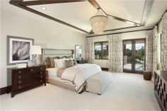 Master bedroom design by John Balistreri, Bali Design Group. Interior furniture design by Marc-Michaels Interiors.