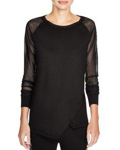 Elie Tahari Sport Avril Mesh Sleeve Shirt