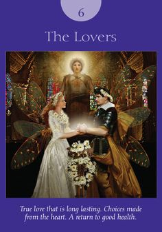 Oracle Card The Lovers   Doreen Virtue   official Angel Therapy Web site