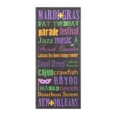Mardi Gras Canvas Art Print | Kirkland's-look what i found mardi gras stuff...won't be able to get here but love this subway art piece...good price as well