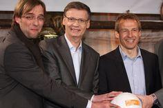 Jürgen Klopp - Jürgen Klopp mit Günther Jauch (M.) und Jürgen Klismann (r.) (Foto: Public Address