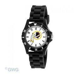 Washington Redskins NFL Game Time Wildcat Juniors Black Silicone Watch
