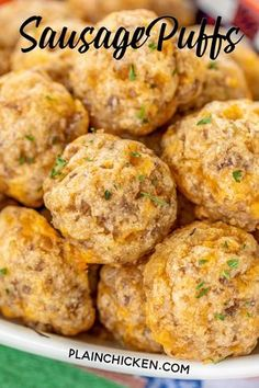 5 ingredients - butter, cheddar cheese, sausage, worcestershire and flour. These things fly off the plate at parties. You will want to double the recipe! A great alternative to our usual sausage balls. Quick Appetizers, Finger Food Appetizers, Appetizers For Party, Appetizer Recipes, Snack Recipes, Cooking Recipes, Sausage Appetizers, Breakfast Sausage Recipes, Tasty Snacks