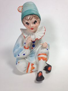 Vintage Adorable Porcelain Clown Lamp/Night Light C. Mid Century  #Vintage