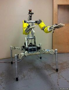 The self-funded Team Mojavaton, from Colorado, is entering Buddy. Weighing 16.8kg (37lbs) the four-legged robot is the lightest in the compe...