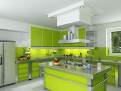 Green And White Kitchen Cabinets 21 refreshing green kitchen design ideas | green kitchen designs