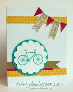 Julie's Stamping Spot -- Stampin' Up! Project Ideas Posted Daily: My Paper Pumpkin: Pedal Praise Samples for August